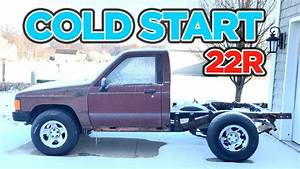 Cold Start  1987 Toyota Pickup 22r  Lifted 2wd Truck