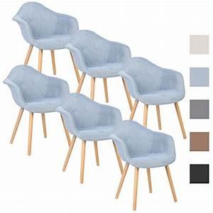 Esszimmerstühle 6 Set : woltu bh55hbl 6 6 x esszimmerst hle 6er set esszimmerstuhl mit lehne design stuhl k chenstuhl ~ Orissabook.com Haus und Dekorationen