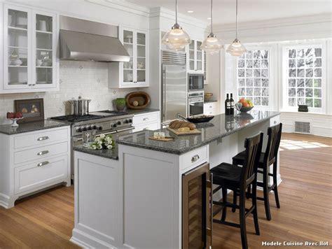 modele cuisine design modele cuisine avec ilot bar maison design bahbe com
