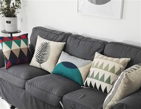 accent pillows for grey sofa colorful geometric decorative throw pillows for grey couch
