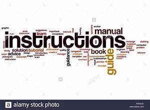 Instructions Word Cloud Concept Stock Photo  100701874