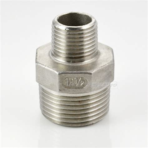 xmale hex nipple threaded reducer pipe fitting