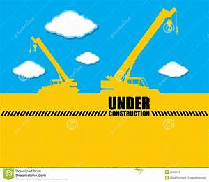 Background Crane With Under Construction Vector Stock ...