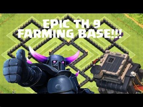 epic th 9 farming base speed base build clash of