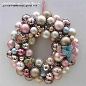 Weihnachtsbaum Mit Rosa Kugeln : t rkranz weihnachten kugeln marble pink gro ~ Orissabook.com Haus und Dekorationen