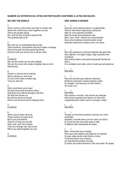 atividade   letra da musica    world