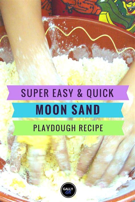 moon sand recipe  vegetable oil