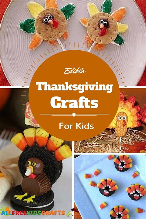 edible thanksgiving crafts  kids