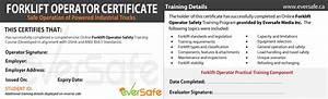 online forklift certification training get your forklift With forklift operator certification card template