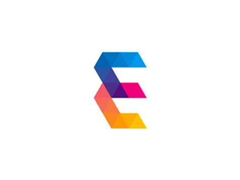 e by design e for events letter logo design symbol by alex tass
