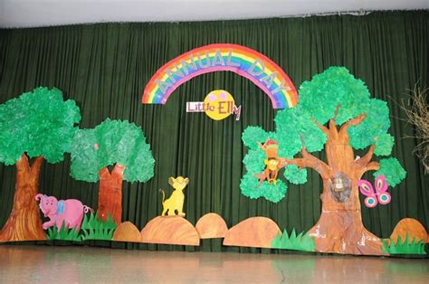 Backdrop Ideas For School by Annual Day Stage Decoration Decoration On A Pre School