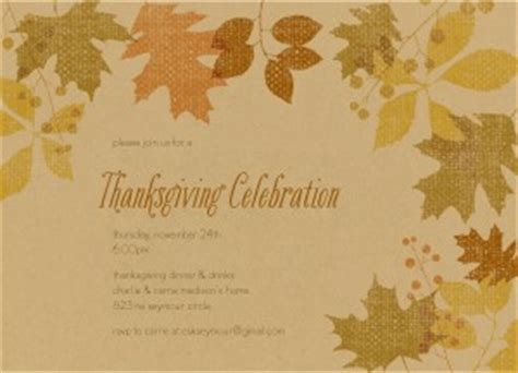 printable fall leaves thanksgiving invitation template