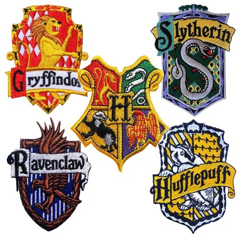 harry potter patch house badge crest embroidered iron sew