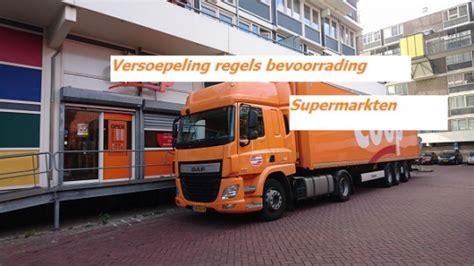 versoepeling regels bij bevoorrading supermarkten oovb