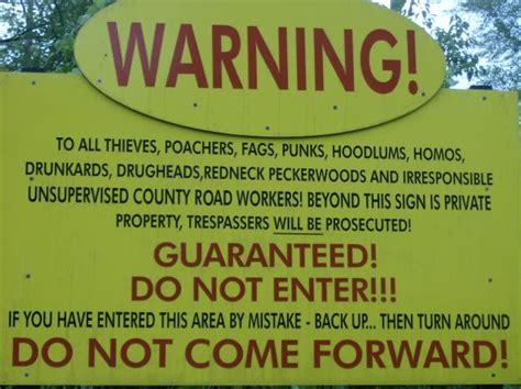 Funny No Trespassing Signs 4 Cool Wallpaper