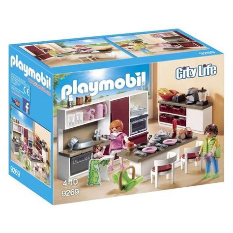 cuisine playmobile playmobil 9269 cuisine aménagée achat vente univers