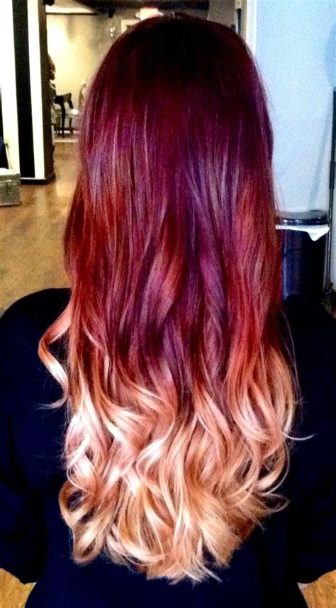 I Did A Beautiful Violet To Red To Blonde Ombre Today On A