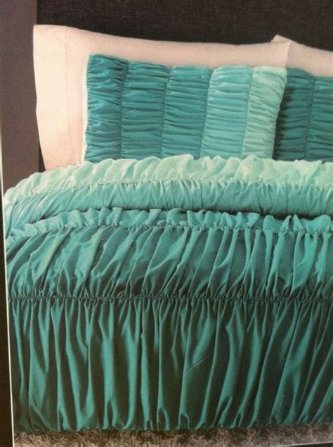 cynthia rowley ombre ruched duvet comforter set twin xl
