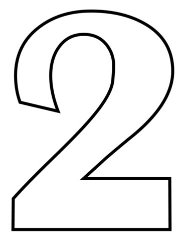 number 2 coloring page free printable coloring pages