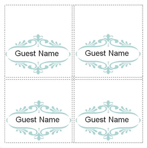 sample place card template   documents