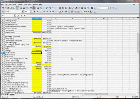 family budget spreadsheet budget spreadsheet spreadsheet