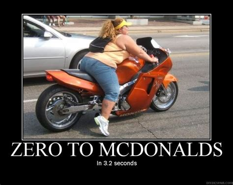 Fat Couple On Motorcycle