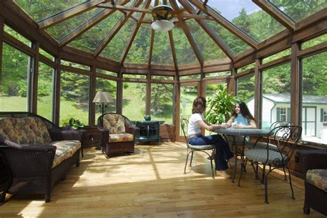 Conservatory Sunroom by Conservatory With Wood Interior