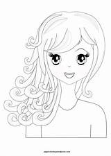 Coloring Manga Curly Spa Hairstyles Printable Haircuts Pretty Themed Clipart Sheets Children تلوين Swift Taylor Para Popular sketch template