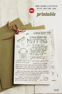 Recipe Journal Template Free Printable Hand Drawn Illustrated Christmas Recipe