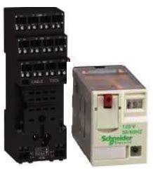 relais de puissance miniature zelio rxm     cc