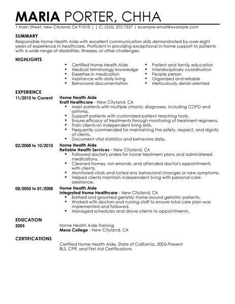 home health care rn resume home health aide resume exles healthcare resume exles livecareer