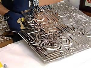 adhesive backsplash tiles for kitchen weekend projects how to install a tin tile backsplash hgtv