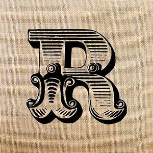 monogram initial letter r letter clip art letter decal With western letter art