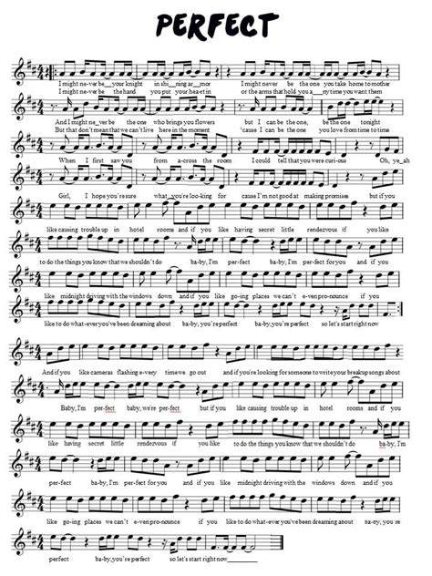 Free easy violin sheet music   he's got the whole world in his hands. One Direction Perfect violin sheet music   Violin sheet music, Sheet music, Flute sheet music