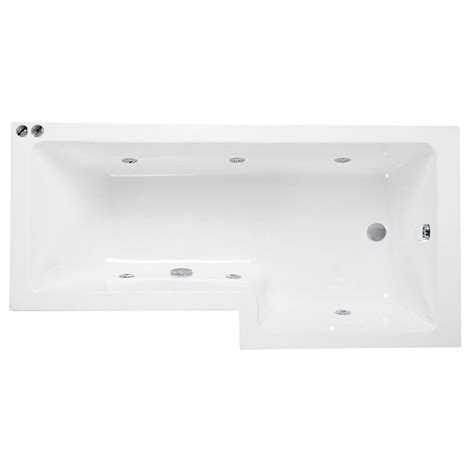 Whirlpool Shower Bath by L Shaped Whirlpool Shower Bath Right Handed Buy