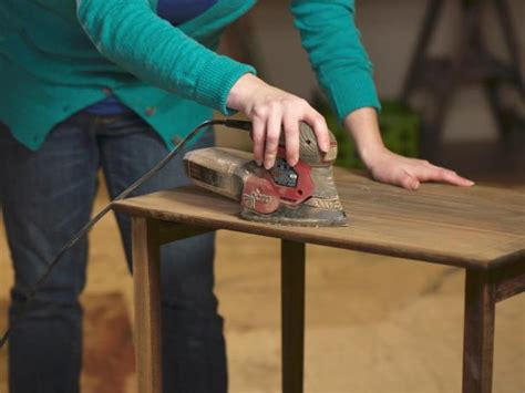sanding and staining wood table how to refinish wood furniture 10 steps