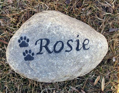 pet memorial garden stones pet memorial personalized garden by mainlinedesigns