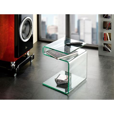bent glass end table clear bent glass side table 87727 ebay