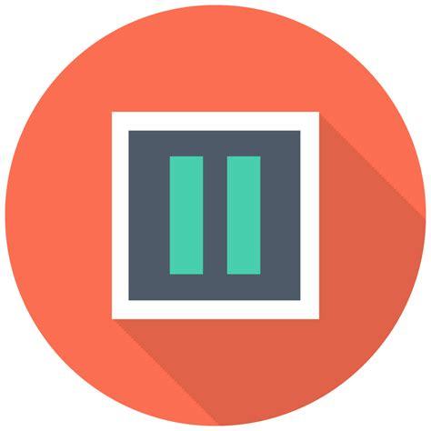 pause icon  flat multimedia iconset designbolts
