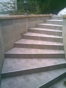 poser du carrelage sur un escalier exterieur With carrelage exterieur pour escalier