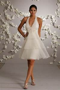 Short halter top wedding dresses styles of wedding dresses for Best short wedding dresses
