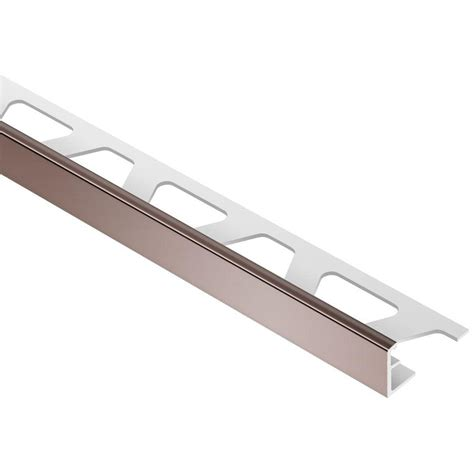 Schluter Tile Edging Colors by Schluter Jolly Brown Color Coated Aluminum 5 16 In X