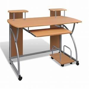 Meuble Pour Bureau : table de bureau brun pour ordinateur avec roulette achat vente meuble informatique table de ~ Teatrodelosmanantiales.com Idées de Décoration