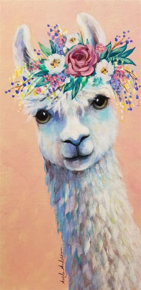 boho llama acrylic painting tutorial   animal