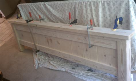ana white farmhouse king bed diy projects