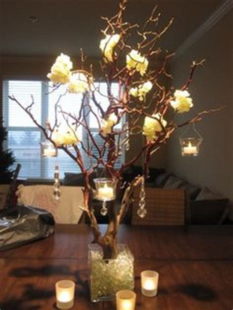 tree branches centerpiece candles designed  asiel design rustic pinterest branch