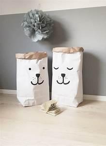 Sac En Papier Deco : tellkiddo les sacs en papier qui donnent envie de ranger ~ Teatrodelosmanantiales.com Idées de Décoration
