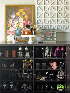 25 shoe organizer ideas hgtv With best brand of paint for kitchen cabinets with toddler girl wall art
