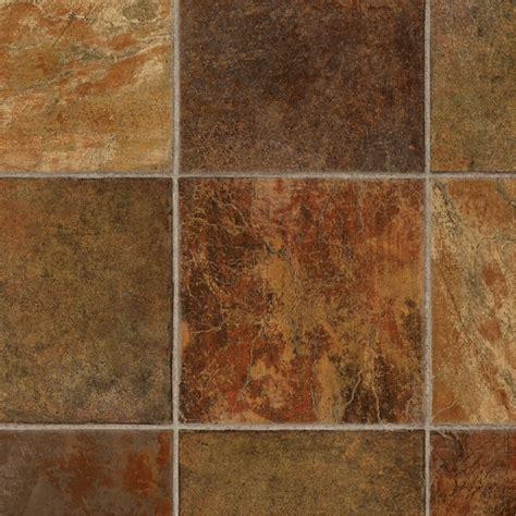 shop tarkett 12 ft w rust tile low gloss finish sheet vinyl at lowes com