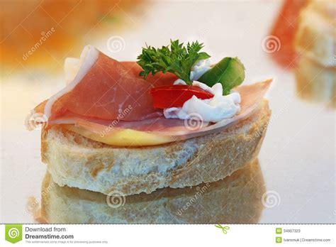 canapé toast canape sandwich stock image image of